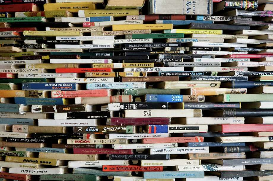 A tower of used books Photo: /