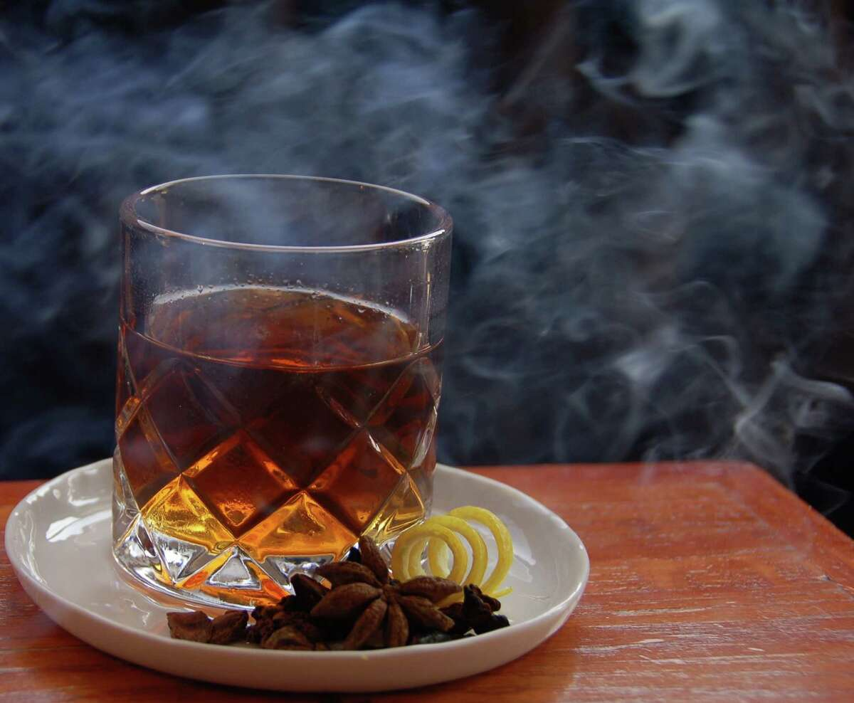 Backseat Leather is a cocktail made with Pampero Aniversario Rum, Ardbeg 10 Year Single malt Scotch, Bonal Gentiane-Quina, Becherovka, Scrappy's Black Lemon Bitters and Anise Smoke Remove. It is among the seven new cocktails on Anvil Bar & Refuge's new fall menu, launching Oct. 5. Owner Bobby Heugel calls it the bar's most ambitious menu yet.