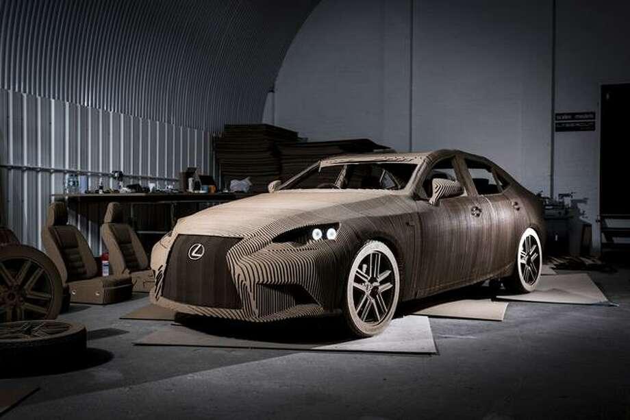 The Lexus unveils full-size origami inspired car.Source: Lexus