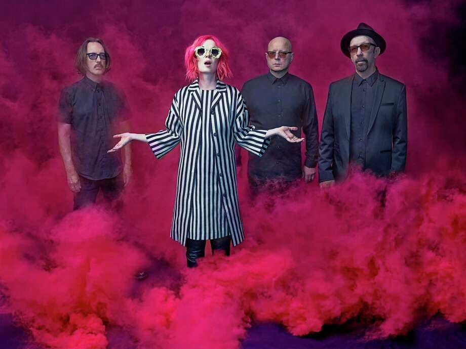Rock band Garbage, from left, is Butch Vig, Shirley Manson, Steve Marker and Duke Erikson.