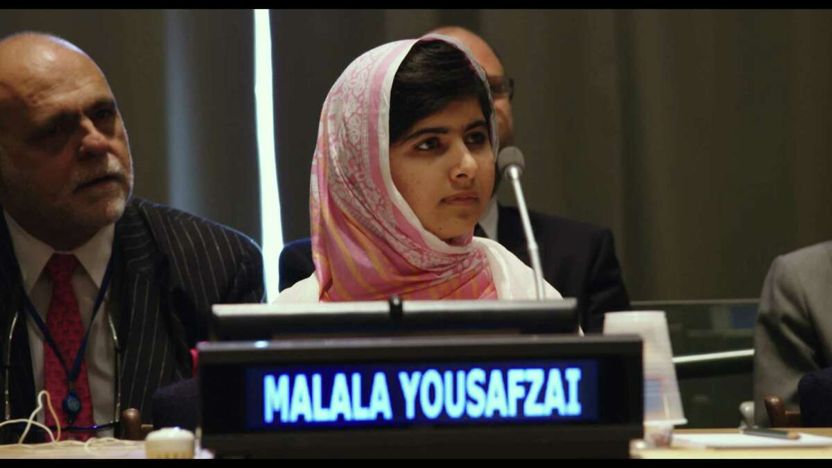 Malala Yousafzai at the United Nations General Assembly on July 12, 2013 in New York City. (Fox Searchlight Pictures)