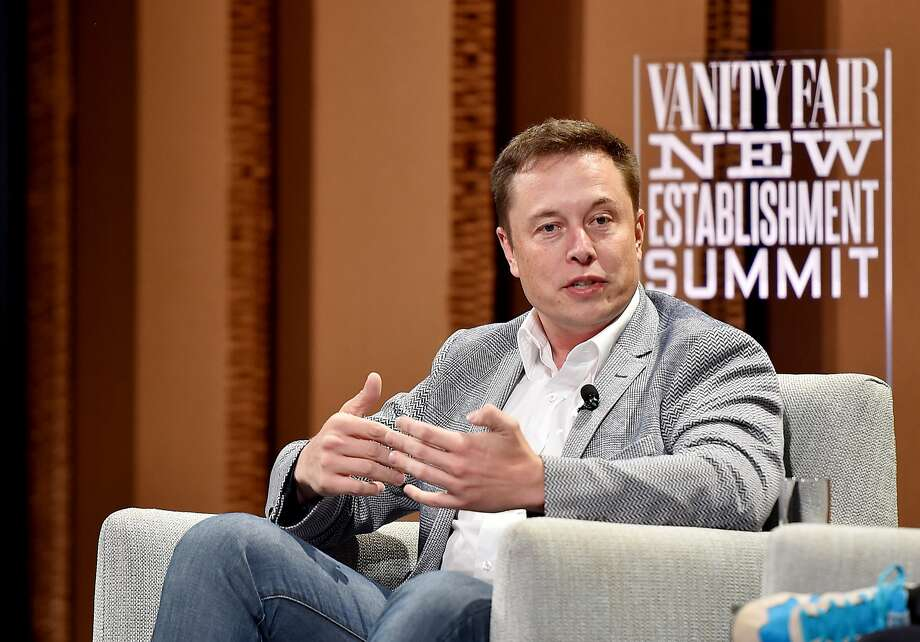 """SAN FRANCISCO, CA - OCTOBER 06:  Tesla Motors CEO and Product Architect Elon Musk speaks onstage during """"What Will They Think of Next? Talking About Innovation"""" at the Vanity Fair New Establishment Summit at Yerba Buena Center for the Arts on October 6, 2015 in San Francisco, California.  (Photo by Mike Windle/Getty Images for Vanity Fair) Photo: Mike Windle, Getty Images For Vanity Fair"""