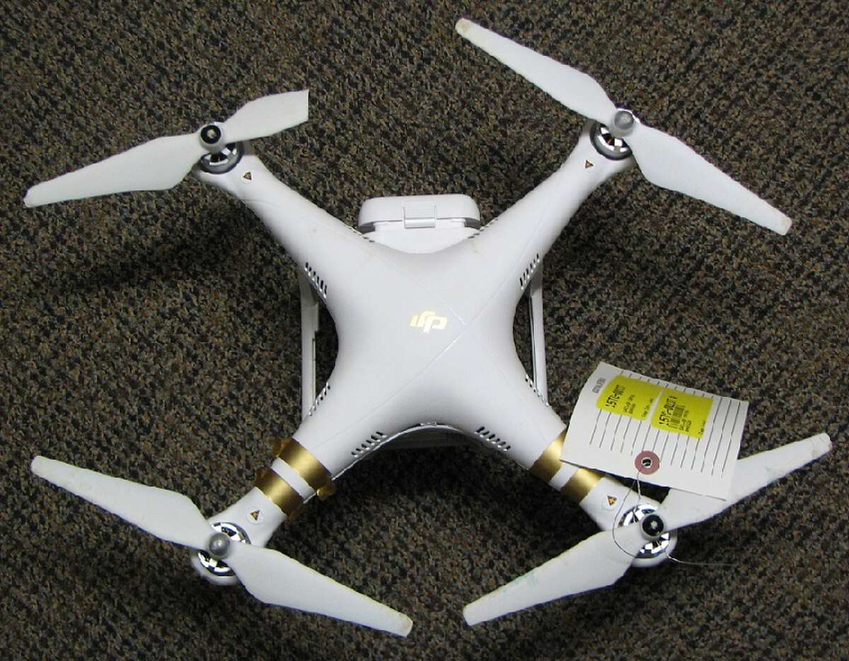A drone that Adam Rupeka allegedly crashed in the Capitol in Albany, NY, on Sept. 17, 2015. (State Police photo)