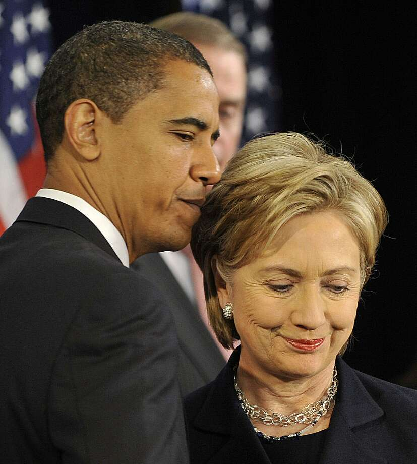 Hillary Rodham Clinton has been offering critiques of Obama's policies more and more in recent weeks. Photo: Jim Watson, AFP/Getty Images