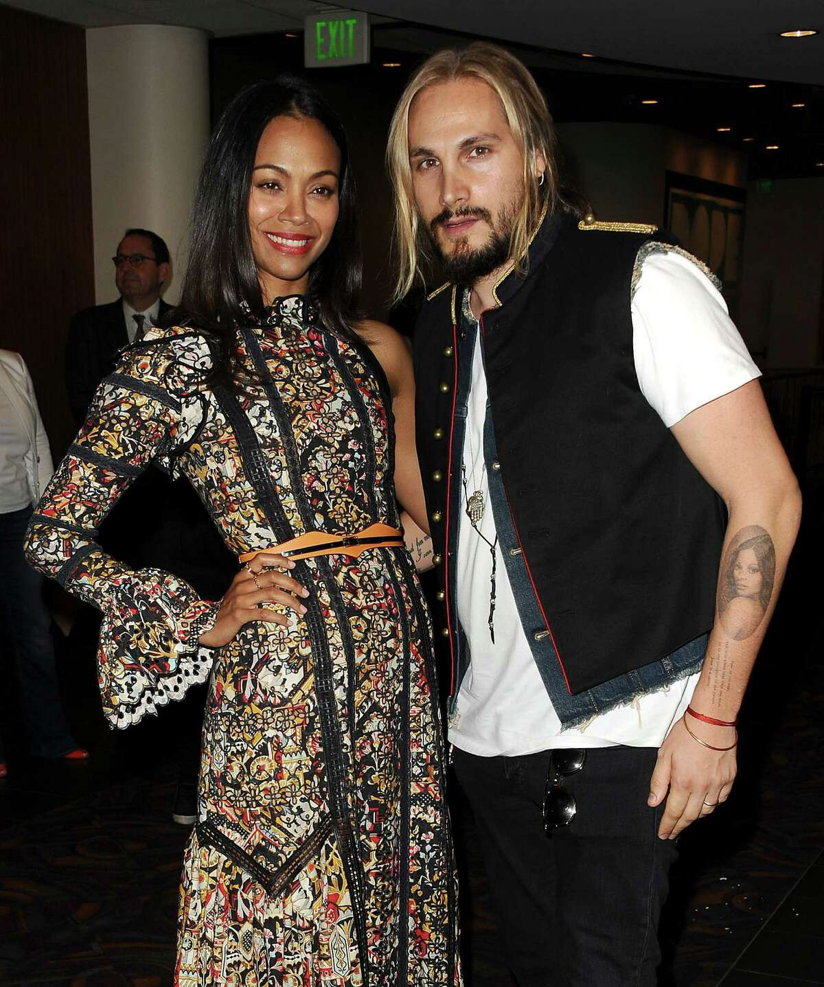 Zoe Saldana's husband, formerly known as Marco Perego, took his wife's last name.
