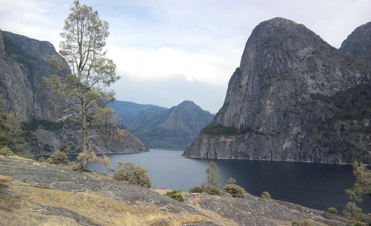 San Franciscans flush their toilets with water from Yosemite. The tap water sure tastes good. Maybe that's why the sourdough bread and local craft beer is so good too. The source of the city water is an aqueduct stretching clear up into the Hetch Hetchy reservoir, in Yosemite National Park. The mayor of San Francisco first wanted the water back in 1890, but the real impetus for flooding the picturesque valley that once rivaled the Yosemite Valley was the 1906 quake and resulting fire. By 1934, the dam was built, the pipes were laid, and the city was drinking the Sierra's finest. President Woodrow Wilson had to sign a law allowing the project in a national park, but the city got its way, and now 280 miles of pipelines feed water to 2.4 million people in San Francisco, Santa Clara, Alameda, and San Mateo county. 85 percent of Hetch Hetchy water is pure snow-melt from Yosemite National Park.