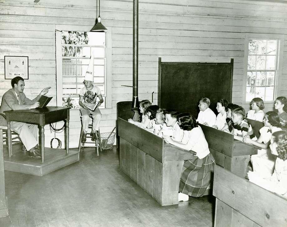 Dunce-cap hell, Douglas School, San Francisco, 1950. Photo: Aaron Rubino, The Chronicle