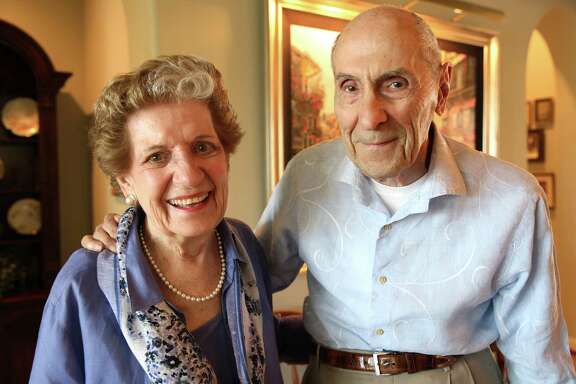 """Margie Jenkins and her husband, Robert """"Jenks"""" Jenkins, both 92, in their Houston home on Friday, Oct. 2, 2015. Photos of Margie Jenkins, 92, and  her husband, Robert """"Jenks"""", 92 in their Houston home on Friday, Oct. 2, 2015. Margie Jenkins is a retired social worker who has written a book about death and dying titled, """"You Only Die Once."""" Her idea is to live well, acknowledge that everybody dies, and it's best to speak openly and honestly about the subject."""