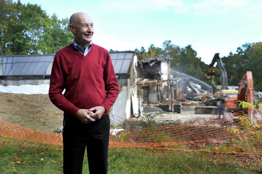 Richard Larson is chairman of the Schlumberger Citizens Committee which is surveying the property. Photo Wednesday, Oct. 7, 2015. The former Schlumberger property is in Ridgefield. Photo: Carol Kaliff / Hearst Connecticut Media / The News-Times