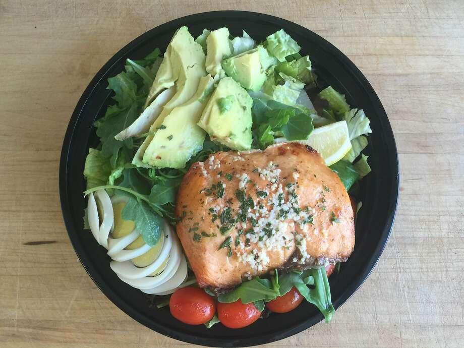 Salmon salad from Prime Dip via GrubHub Photo: Amanda Gold