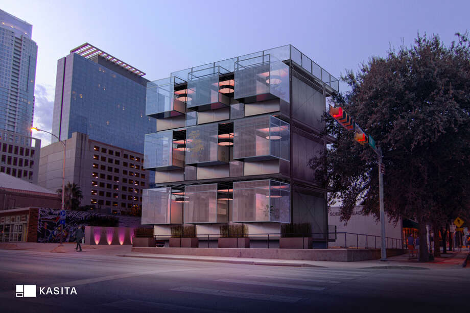 """An Austin-based project called Kasita aims to create 208-square-foot """"microunit"""" apartments that include all amenities typically found in residences that could be shipped to sites in other cities at half of the market cost of a normal studio apartment. Photo: Courtesy Of Kasita"""