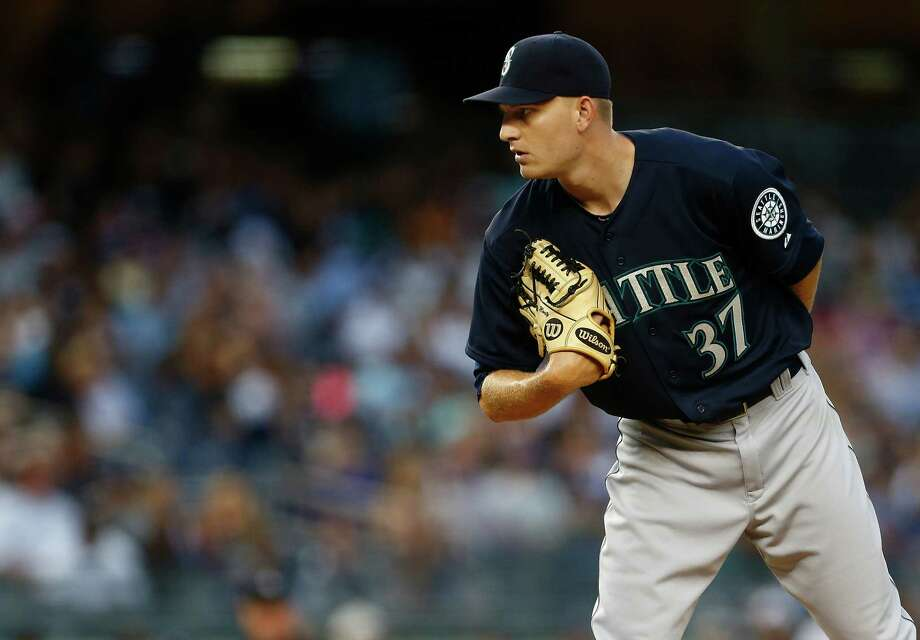 NEW YORK, NY - Pitcher Mike Montgomery #37 of the Seattle Mariners in action against the New York Yankees during an MLB baseball game at Yankee Stadium on July 17, 2015 in the Bronx borough of New York City. Photo: Rich Schultz, Getty Images / 2015 Rich Schultz
