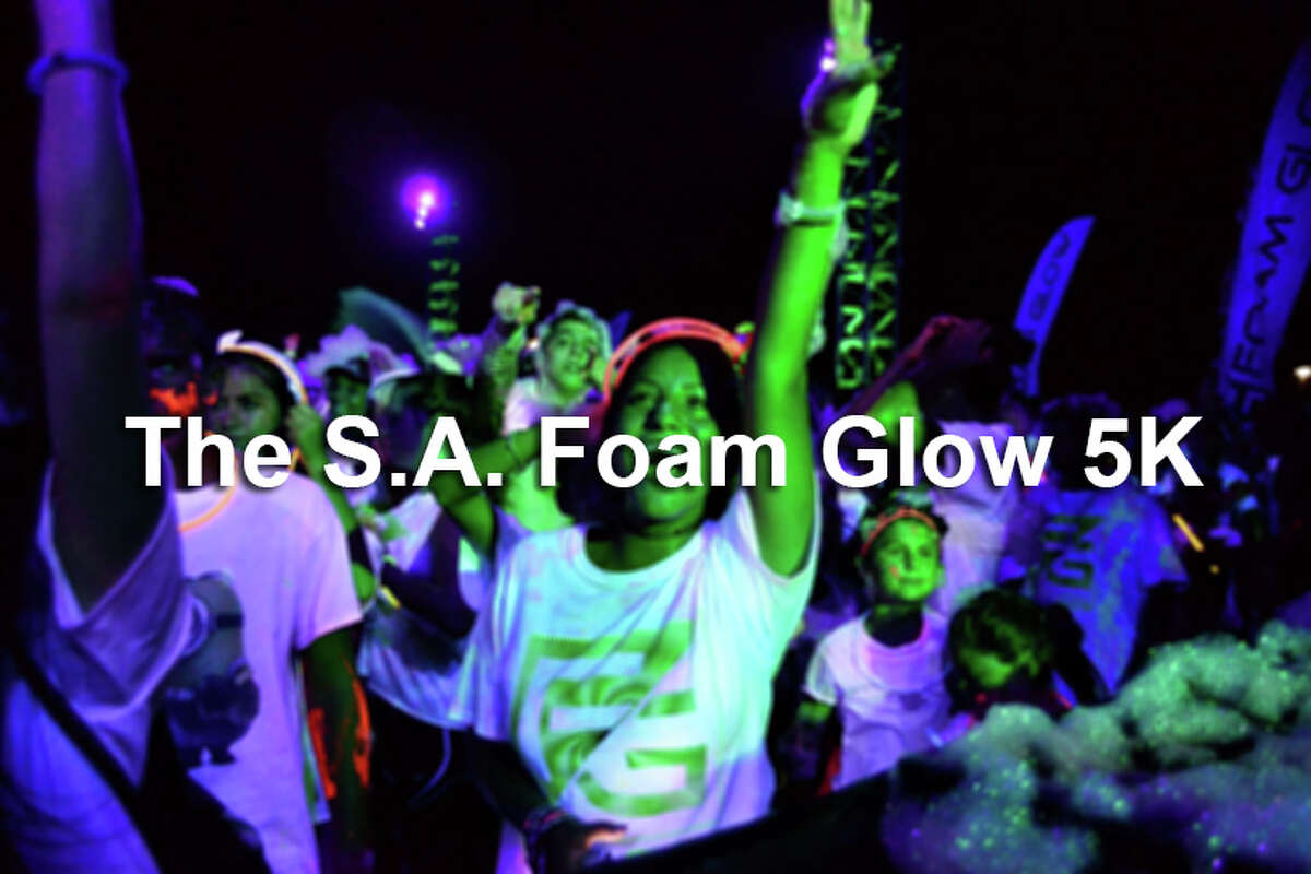 See who was out at the Foam Glow 5K run in San Antonio, a light sensory multi-colored run set to stellar music.