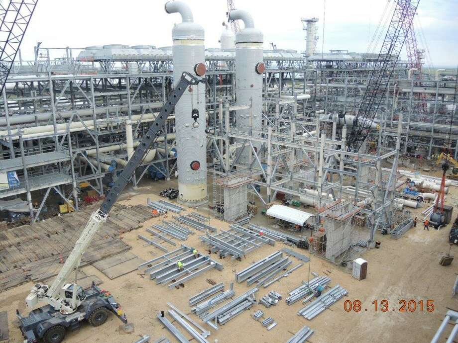 Construction continues on Train 4 at Cheniere Energy's Sabine Pass LNG export terminal in Cameron Parish, Louisiana, in a photo the company submitted to the Federal Energy Regulatory Commission. (Cheniere photo) Photo: Cheniere Energy