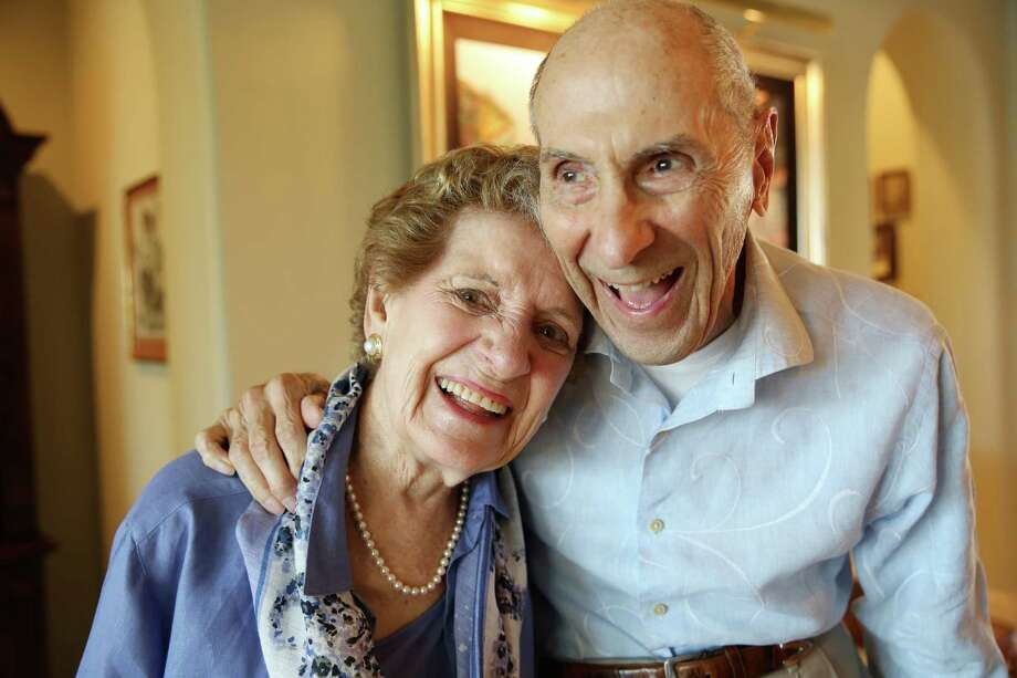"Margie Jenkins, with her husband, Robert ""Jenks"" Jenkins, both 92, is creating a companion online course to her book about dying. Photo: Elizabeth Conley, Staff / © 2015 Houston Chronicle"