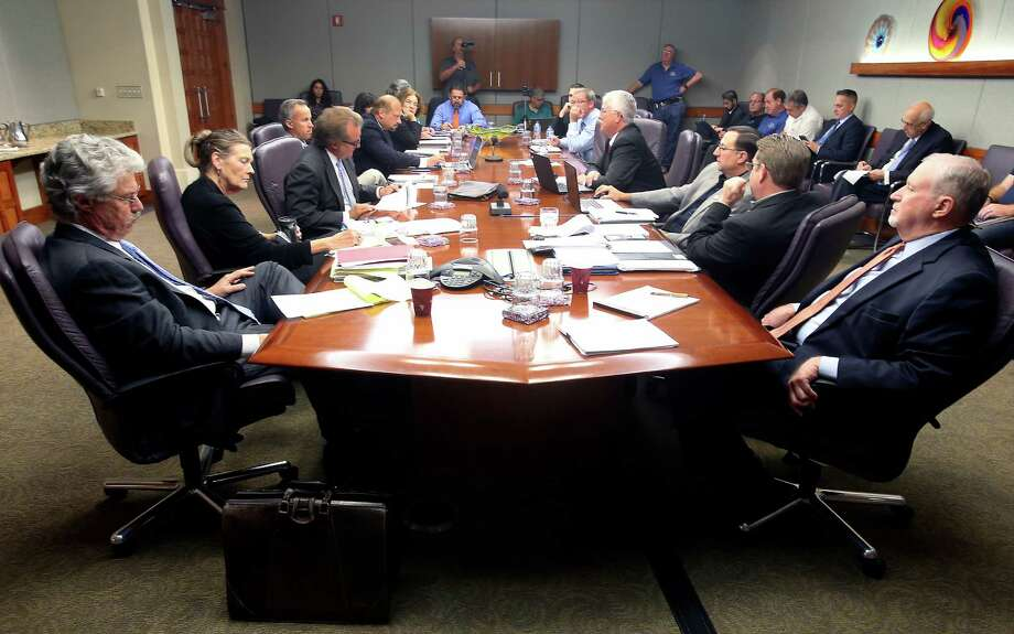 Negotiators from the city, left, and the San Antonio police unionduring collective bargaining agreement negotiations. A reader criticizes the stance of the union. Photo: William Luther /San Antonio Express-News / © 2015 San Antonio Express-News