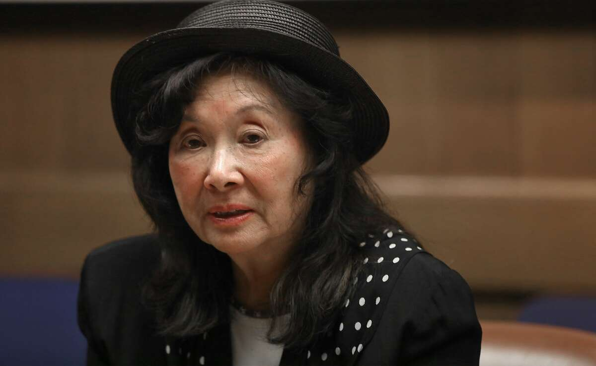 Candidate for San Francisco District 3 supervisor Wilma Pang meets with the editorial board for a debate at San Francisco Chronicle in San Francisco, Calif., on Wednesday, September 30, 2015.