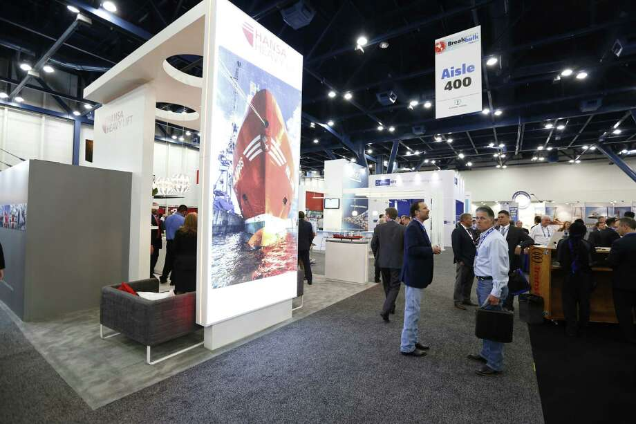 The Breakbulk Americas conference, held at the George R. Brown center, wrapped up Thursday. Photo: Steve Gonzales, Staff / © 2015 Houston Chronicle