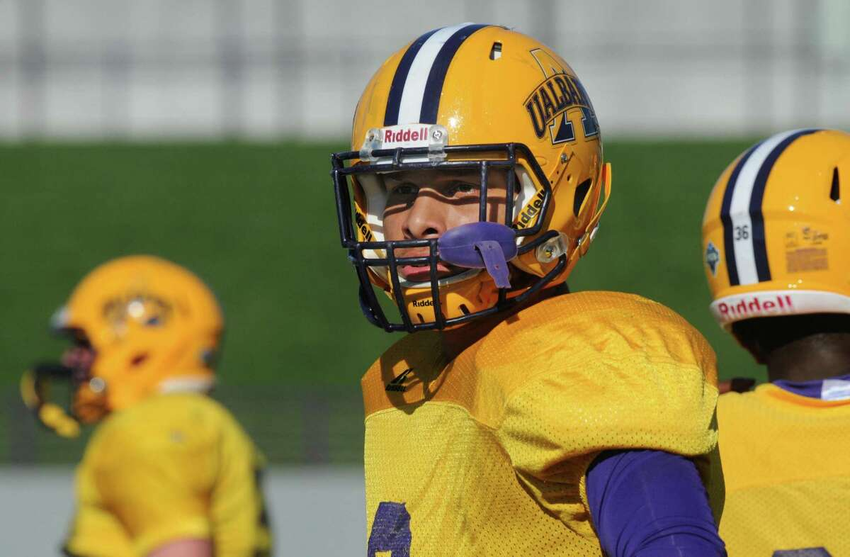 UAlbany LB Julian Cox, (6), during practice at Bob Ford Field on Wednesday Oct. 7, 2015 in Albany , N.Y. (Michael P. Farrell/Times Union)