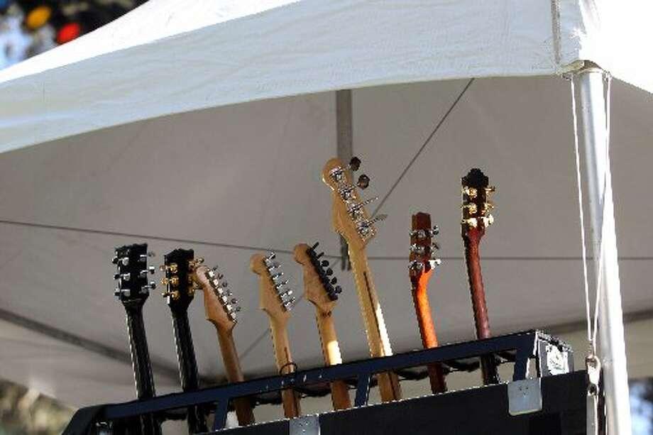 Guitars wait to be deployed at HSB
