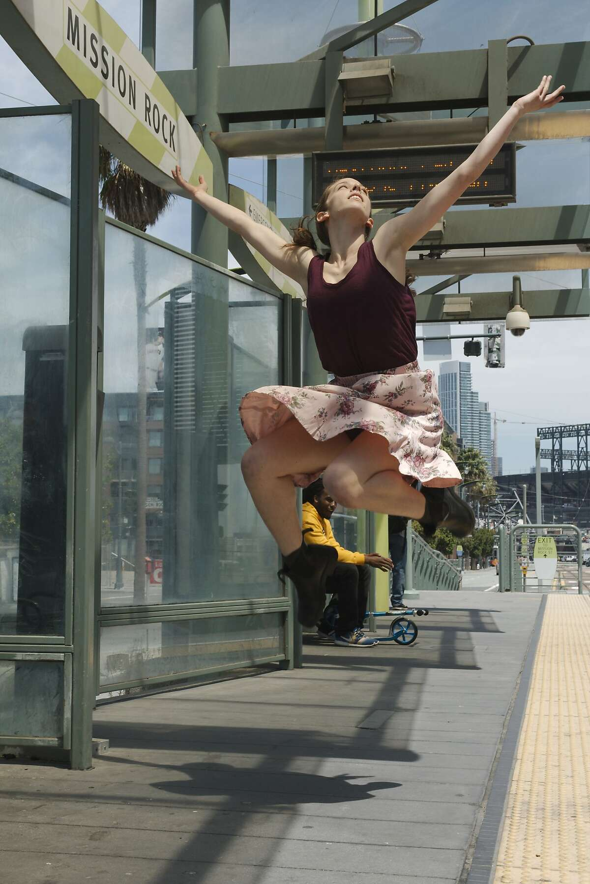 Marlie Couto appears in the 12th annual San Francisco Trolley Dances this weekend. Photo by Andy Mogg
