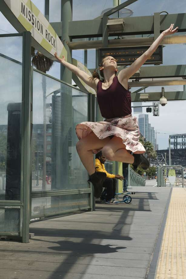 Marlie Couto appears in the 12th annual San Francisco Trolley Dances this weekend.  Photo by Andy Mogg Photo: Andy Mogg