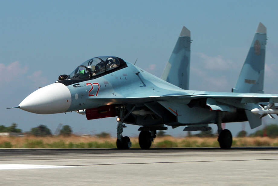Russians say they are using a base in Syria to target the Islamic State, though their bombs have hit areas held by others who oppose Syria, Russia's ally. Photo: RUSSIAN DEFENSE MINISTRY PRESS S, HO / RUSSIAN DEFENSE MINISTRY PRESS S