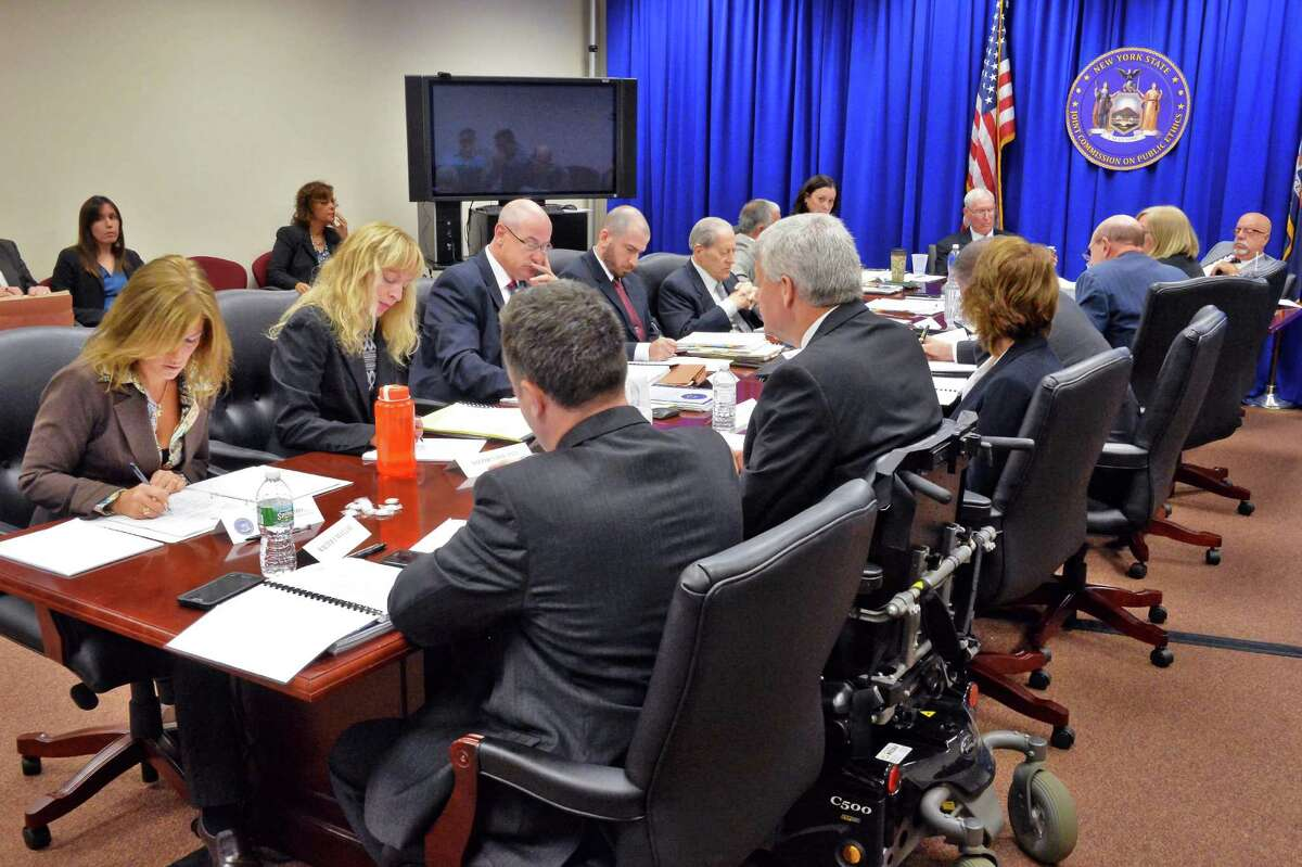 The New York State Joint Commission on Public Ethics meets Wednesday Oct. 7, 2015 in Albany, NY. (John Carl D'Annibale / Times Union)