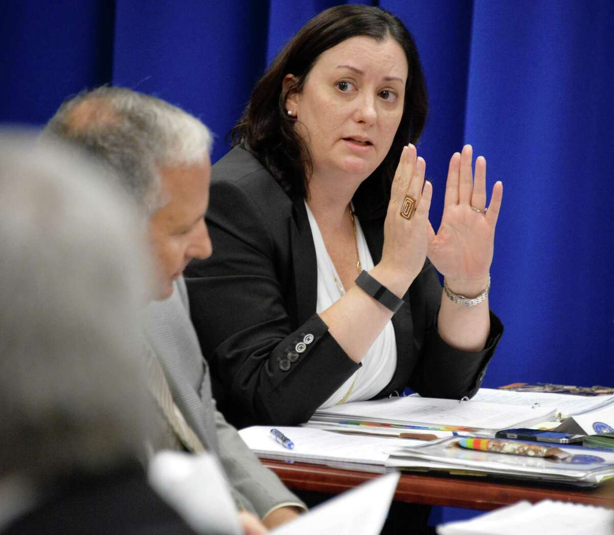 General counsel Monica Stamm during a meeting of the New York State Joint Commission on Public Ethics Wednesday Oct. 7, 2015 in Albany, NY. (John Carl D'Annibale / Times Union)