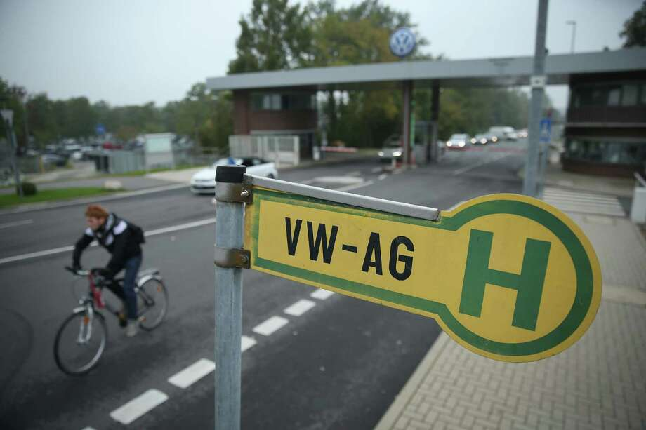 This bus stop is by an entrance to Volkswagen headquarters in Wolfsburg, Germany. Volkswagen has admitted that 11 million vehicles worldwide are affected by the software the company installed in order to manipulate diesel emissions results under testing conditions. Photo: Sean Gallup, Staff / 2015 Getty Images
