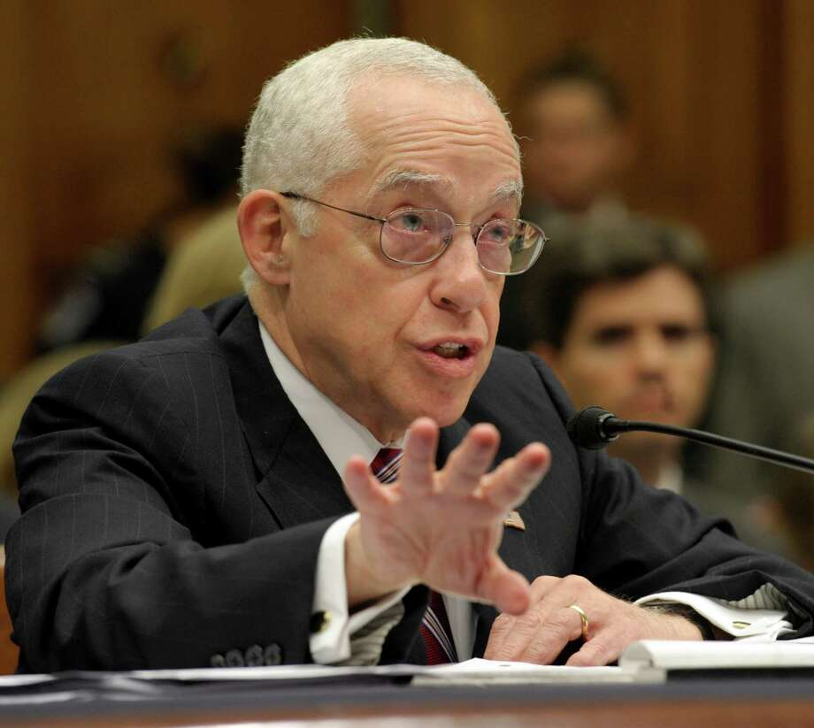 Attorney General Michael Mukasey testifies on Capitol Hill in Washington, Wednesday, July 23, 2008, before the House Judiciary Committee hearing on oversight at the Justice Department. (AP Photo/Susan Walsh) Photo: Susan Walsh / AP