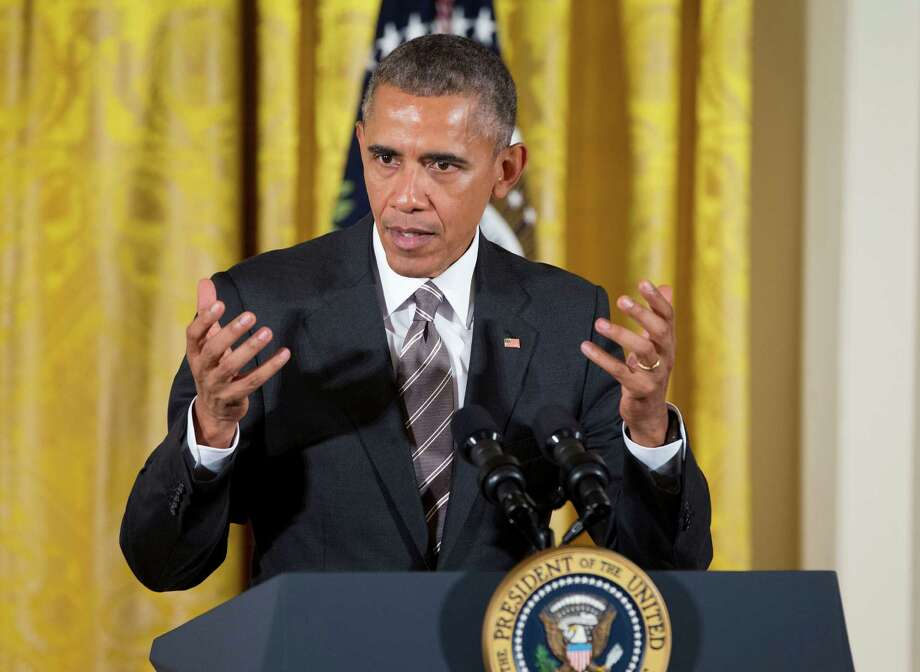 President Barack Obama speaks in the East Room of the White House in Washington, Wednesday, Oct. 7, 2015. Obama apologized to Doctors Without Borders president for attack on Afghan medical clinic. (AP Photo/Pablo Martinez Monsivais) ORG XMIT: DCPM112 Photo: Pablo Martinez Monsivais / AP