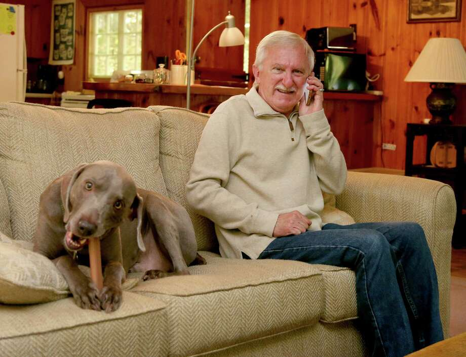 Paul Modrich is one of three scientists who won the Nobel Prize in chemistry on Wednesday. Modrich is an investigator at Howard Hughes Medical Institute and professor at Duke University School of Medicine in Durham, N.C. He enjoys time with his dog Dover at his vacation home in Rumney, N.H. Photo: Mary Schwalm, FRE / FR158029 AP