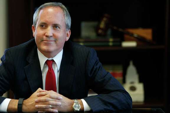 Texas Attorney General Ken Paxton is interviewed inside his Austin office, Wednesday, Oct. 7, 2015. ( Mark Mulligan / Houston Chronicle )