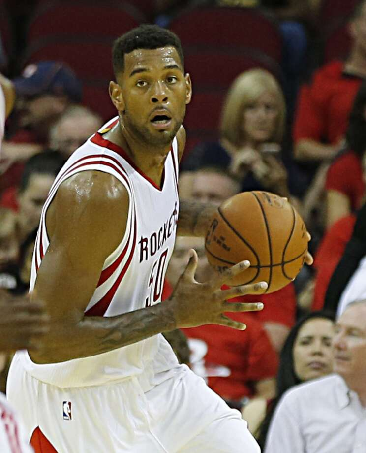 Houston Rockets center Jeremy Tyler during first half NBA preseason game action against the Dallas Mavericks at the Toyota Center Wednesday, Oct. 7, 2015, in Houston.