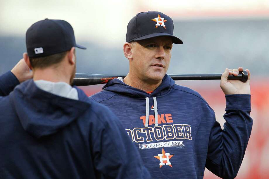 Astros manager A.J. Hinch says he just wants his players to be themselves. Photo: Karen Warren, Staff / © 2015 Houston Chronicle