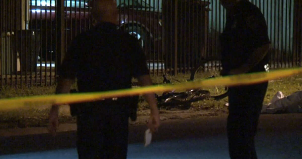 A bicyclist died in a drive-by shooting about 10:30 p.m. Wednesday in the 8200 block of Garland near Arizona, according to the Houston Police Department.