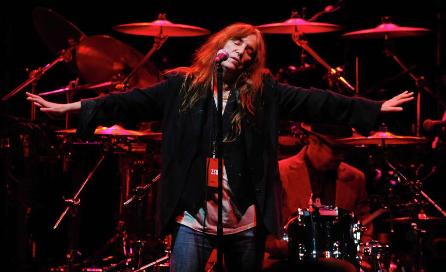 Patti Smith opens for Neil Young in concert at the Webster Bank Arena in Bridgeport, Conn. on Tuesday December 4, 2012. Photo: Christian Abraham / Christian Abraham / Connecticut Post