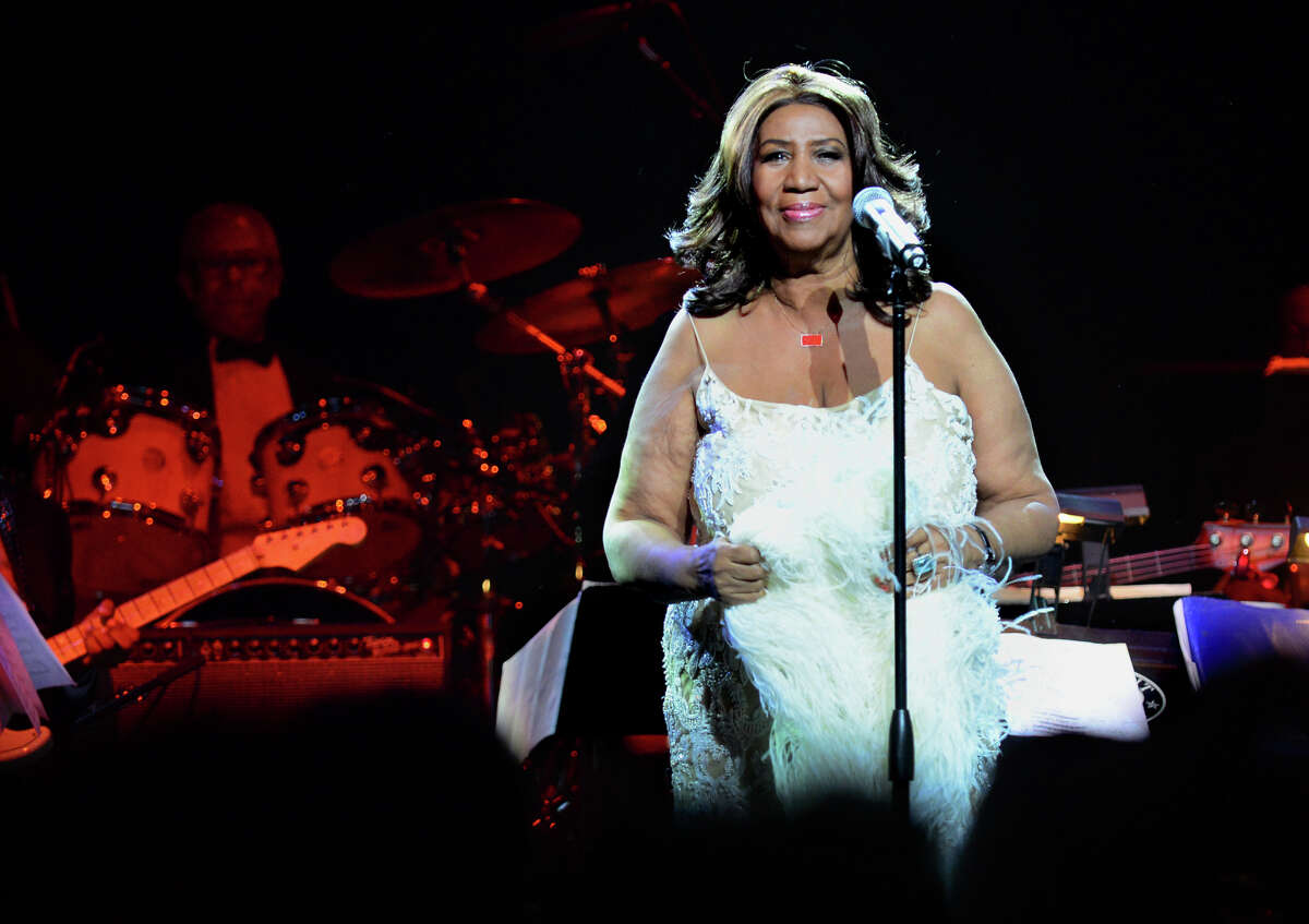 Aretha Franklin performs at the Webster Bank Arena in downtown Bridgeport, Conn., on Friday Mar. 20, 2015.