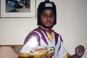 San Antonio Spurs' Patty Mills when he was a kid - Photo