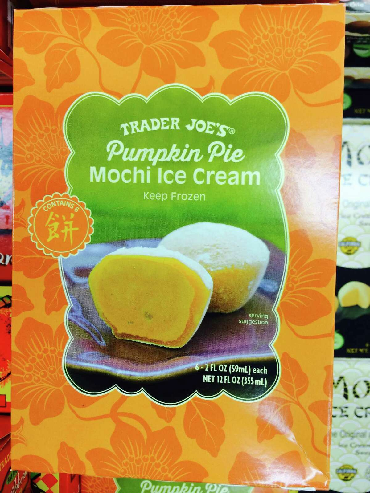 1) Trader Joe's Pumpkin Pie Mochi Ice Cream:Has out-of-the-gourd thinking gone to a ridiculous extreme with this frozen treat? Yes! But surprisingly, it's also one of the best pumpkin items, according to SFGate editorial staff members who devoured a box at meeting. 'Wow?! Really?! This is good!' some were saying.