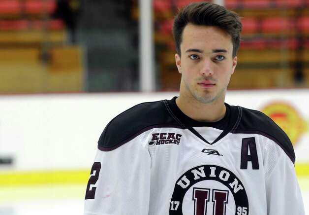 Union College men's hockey assistant captain Jeff Taylor during media day at the Union College Messa Rink on Friday Oct. 2, 2015 in Schenectady , N.Y.  (Michael P. Farrell/Times Union) Photo: Michael P. Farrell / 10033575A