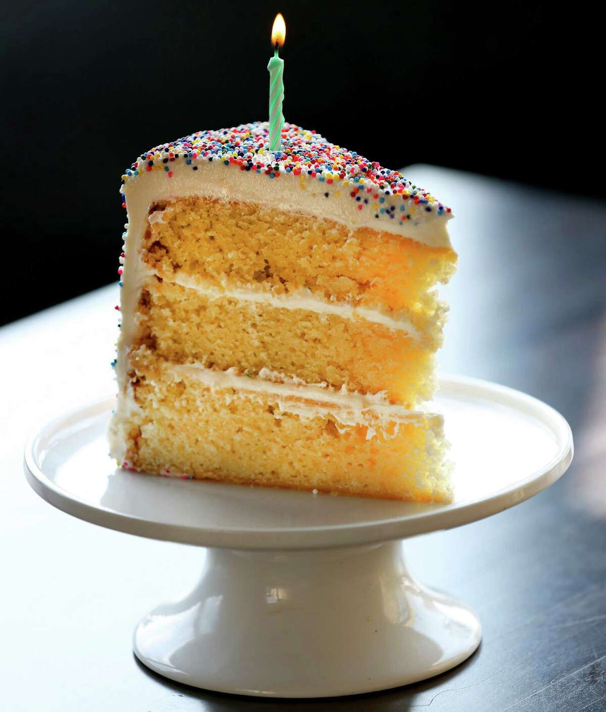 The General Public includes only one dessert on its menu: birthday cake, complete with a candle and sprinkles.