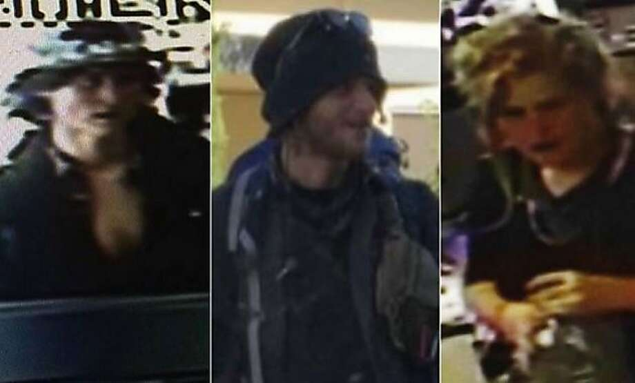 Three suspects, identified as Morrison Haze Lampley, 23, Sean Michael Angold, 24, and Lila Scott Allgood, 18, were arrested in Portland, Ore., Wednesday, Oct. 7, 2015, in connection with the fatal shooting of Steve Carter, a prominent therapist found shot to death on a Marin County hiking trial on Monday. The three were also linked to the Oct. 3 slaying of a woman in Golden Gate Park. Photo: Courtesy, Marin County Sheriff