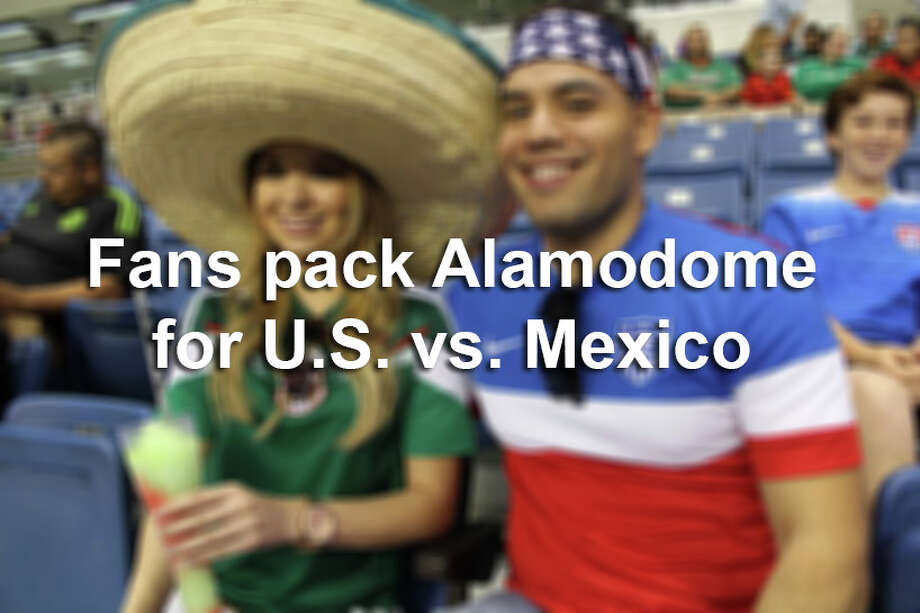 Click through the gallery to see fans who packed the Alamodome for U.S. vs. Mexico soccer game in April 2015.