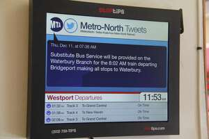 Screens at local stations offer train times and more - Photo