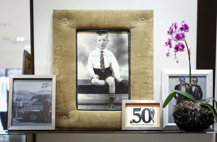 Wilkes Bashford is seen at age 4 in 1937 in Hudson, N.Y., in a framed photo at Wilkes Bashford. Photo: Russell Yip, The Chronicle