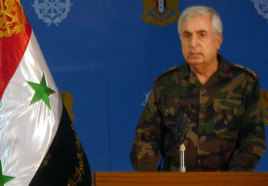 Ali Ayoub, Syria's armed forces chief of staff, said Russia's air strikes had weakened Islamic State fighters and other insurgents so that his troops could keep up the initiative. Photo: -, AFP / Getty Images