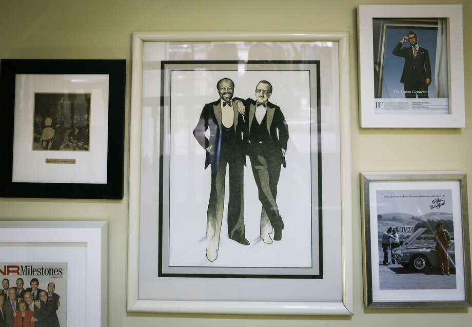 A drawing of Willie Brown and Wilkes Bashford given to Bashford by Brown from 1980 is seen at Wilkes Bashford on Thursday, Oct. 8, 2015 in San Francisco, Calif. Photo: Russell Yip, The Chronicle