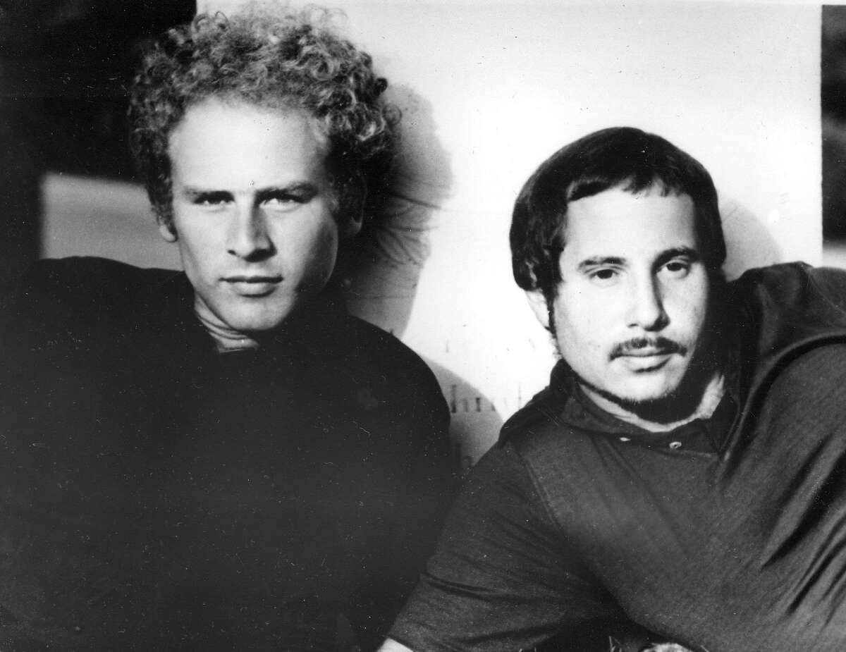 FILE - This 1969 file photo shows musicans Art Garfunkel, left, and Paul Simon of Simon and Garfunkel.Simon and Garfunkel's song